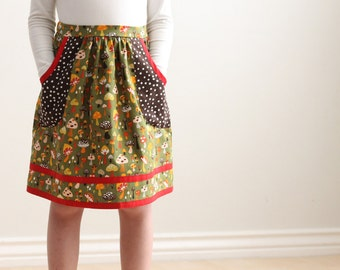 Child Gathered Skirt Sewing Pattern PATTY POCKETS Girls Skirt PDF Sizes 1-12 #212 (1-12)