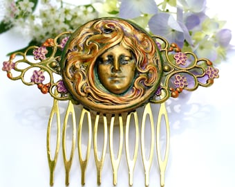 Goddess Hair Comb, Victorian Jewelry, Decorative Hair Comb