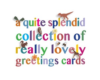 Mix and match greeting cards, your choice of 3 cards, all made in England by luckjudgementgifts
