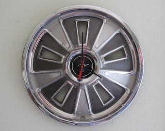 1966 Ford Mustang Hubcap Clock - Item 2625