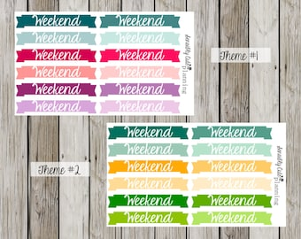 Weekend Banner Stickers for Erin Condren Life Planner (ECLP)