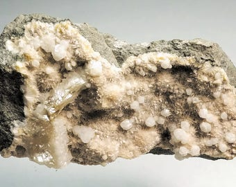 Mesolite with Apophyllite and Stilbite - Bohemia, Czechoslovakia