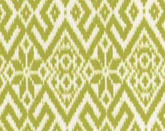 Dear stella design Fair Isle green and white patchwork fabric