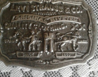 Vintage Levis Strauss Belt Buckle