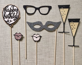 Chic Happy Birthday Photo Booth Props