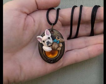 Dog Jewelry French BullDog necklace Dog Pendant Dog Lover Jewelry Dog Lover Necklace Dog Lover Gift Jewelry with Dogs Frenchie Jewelry Gift
