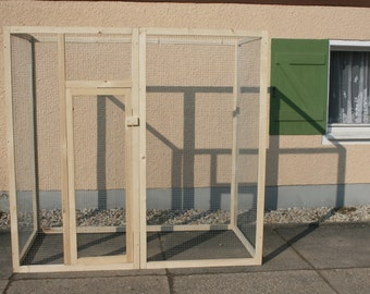 Aviary enclosure cage 1x1m birds parrots parakeets cockatoos Amazon finches deaf monkey ferret squirrel Chinchilla rats cats rodents