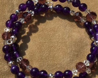 Amethyst Shades and Shapes Bracelet