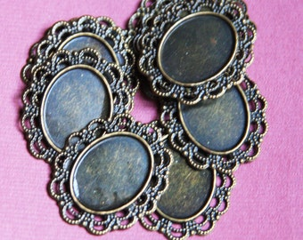 Bulk 300 pcs of antique brass Cabochon setting 23x28mm
