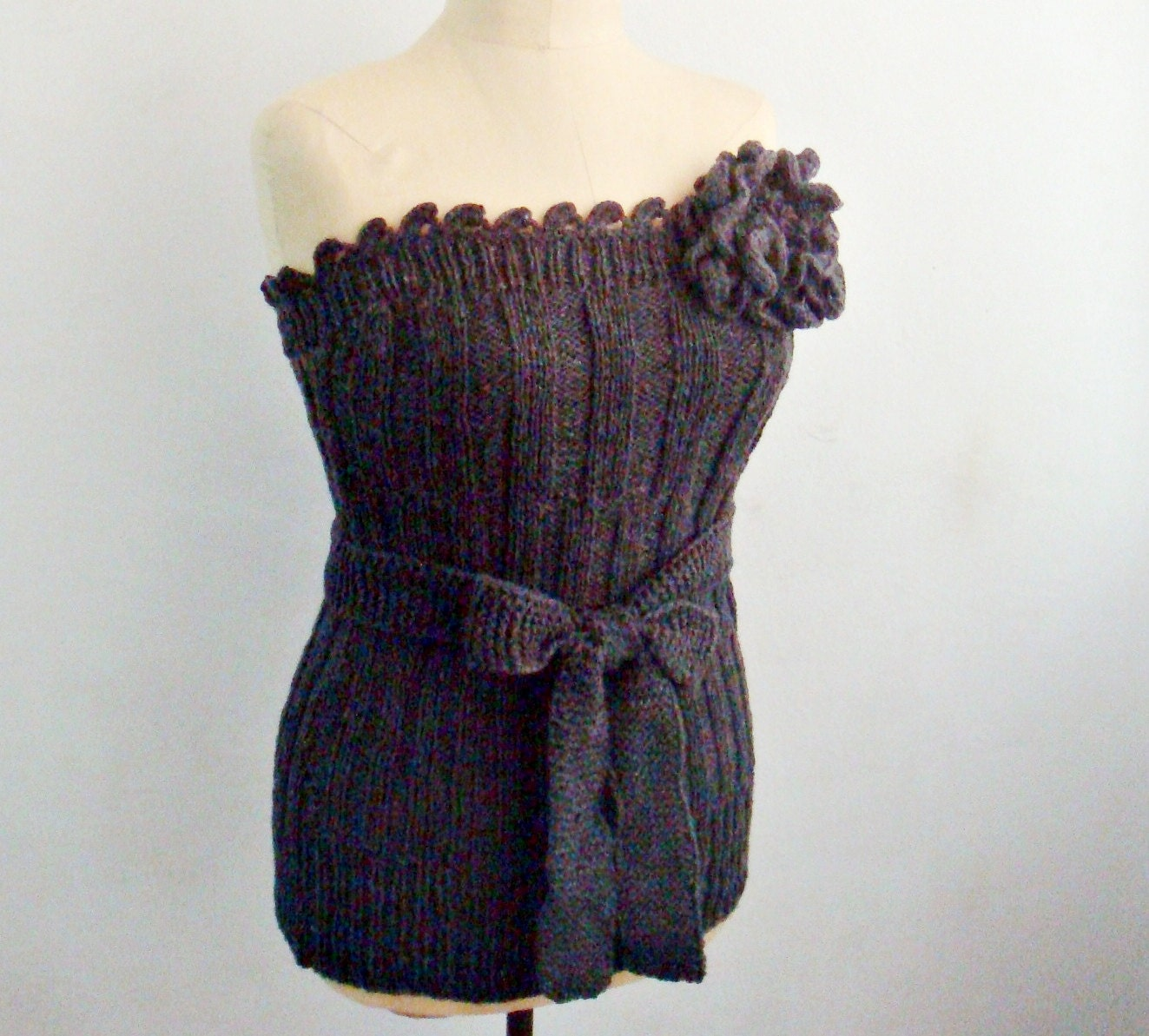Knitting and Crocheting PATTERN Knit Bustier, Corset Top Pattern ...