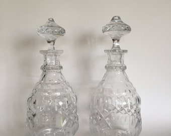 Two Vintage 20s Crystal Decanters