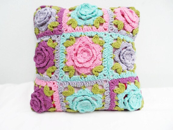 Häkeln Sie Kissenbezug Kissen Kissenbezug Blume Oma Afghan