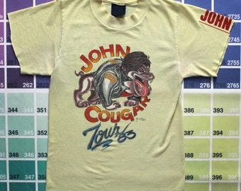 Size XL (47) ** 1985 John Cougar Mellancamp Concert Shirt (Double Sided) (Virtually Unworn) lXe3q2