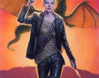 Kassidy and the Sundance Dragon (print)