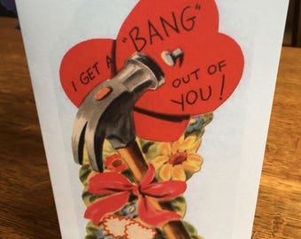 Retro Style Valentine's Card - I Get a Bang Out of You