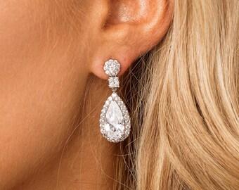 Bridal earrings, wedding earrings, bridal jewellery, bridesmaid earrings, weddings, crystal earrings, wedding, jewelry, cubic zirconia