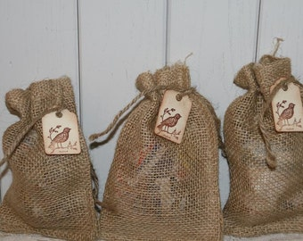 Rustic Wedding  Burlap Bags Wedding Favors with Tag,  Burlap Wedding, Burlap Bags,  Rustic Wedding Favor Bags,  Birdseed Bags, 200