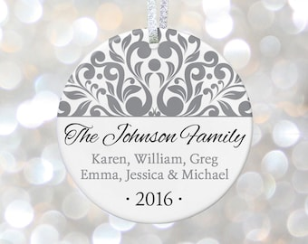 Personalized Christmas Ornaments Gift for Family Christmas Gift for Mom Christmas Gift for Parents, Family Name Sign, New House Hostess Gift