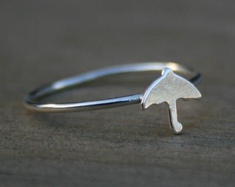Umbrella Sterling Silver Stacking Ring