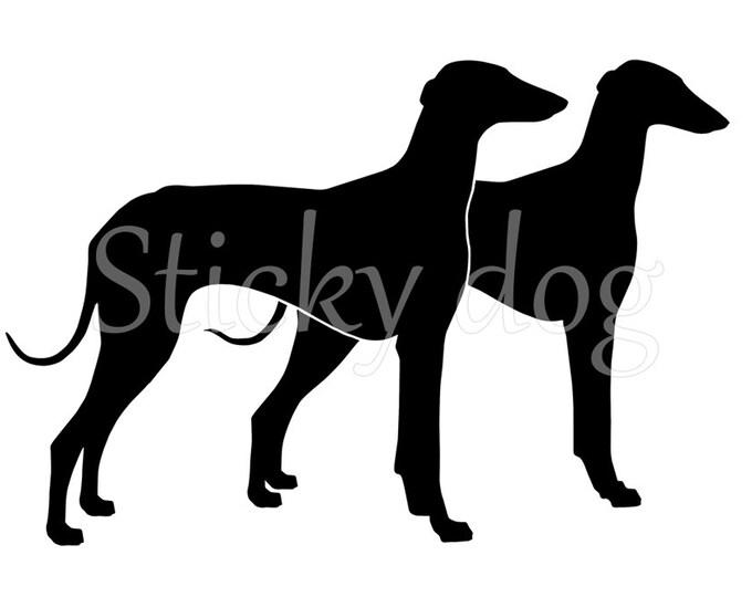 Azawakh double silhouette sticker