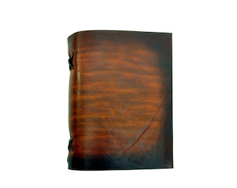 Leather book  - soft OX Easy - Coco - A6 - 400 pages - diary of Vickys World®