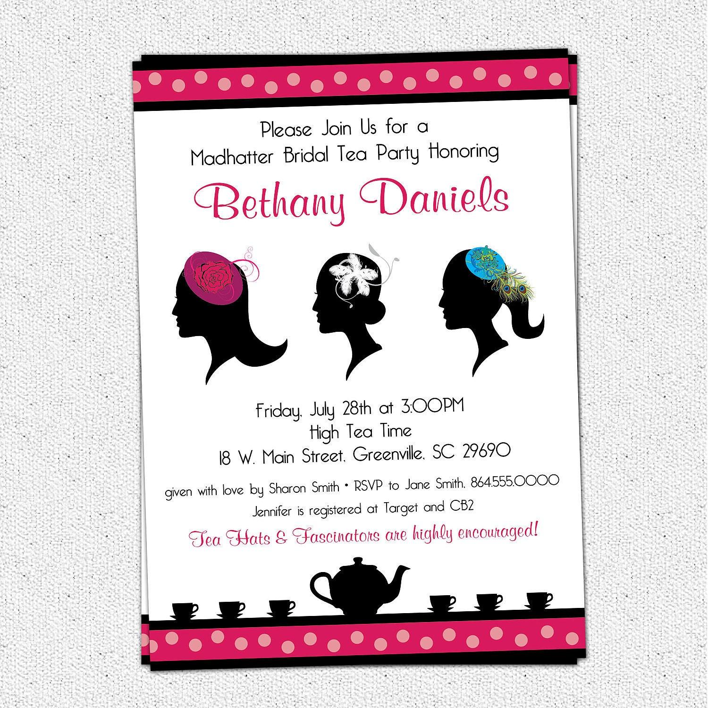 Madhatter Mad Hatter Tea Party Invitation Printable