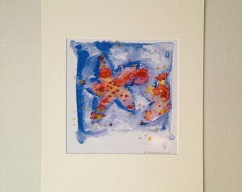 Star Fish Matted Print