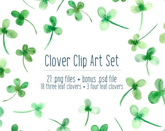 Shamrock Watercolor Clover Clip Art, Blog Design Resource PNG