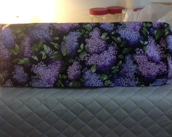 Cameo Silhouette dust cover-Beautiful black with purple lilacs