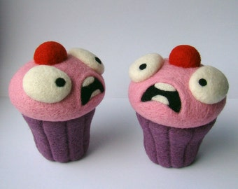 League of Legends, Lulu, Cute Toy, LoL Plush, Cosplay, Kawaii, cupcake ornament, Geeky Christmas Gift, Crazy cake, needle felted, scary toy