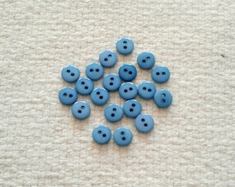 Steel Blue 8 mm Plastic Buttons                                                                                             10/2017