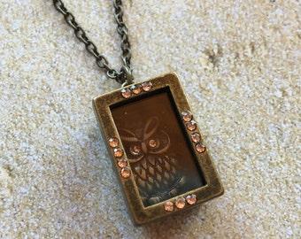 Pendant, Owl Pendant, Victorian Pendant, Necklace, Gift Ideas, For Her, Trending Item, Vintage Look