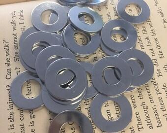 10 TUMBLED Aluminum 7/8 Inch Washers