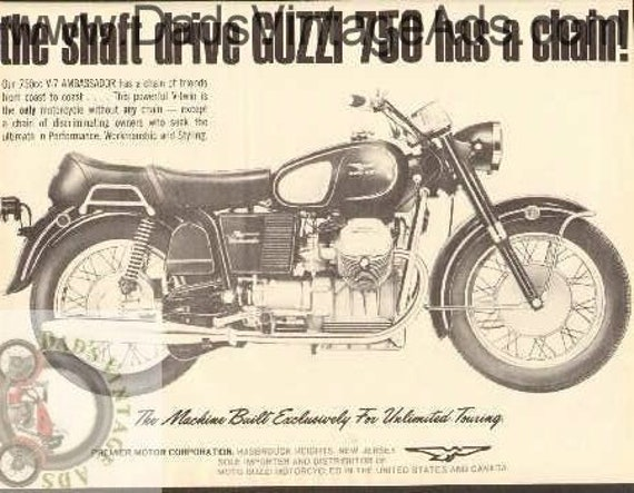 1970 Moto Guzzi 750 V-7 Ambassador Shaft Drive Motorcycle Ad #bv7010a06