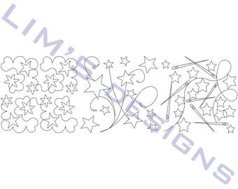 "Three Quilt Patterns N46 machine embroidery designs - 3 sizes 4x4"", 5x5"", 6x6"""