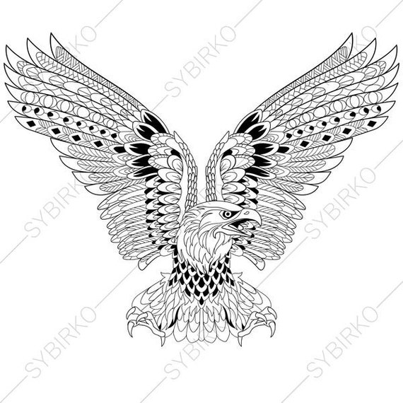 Eagle. Independence day symbol. Coloring Pages for 4th of July