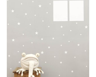 White Star Wall Decals, wall sticker, nursery wall decal, stars nursery decor