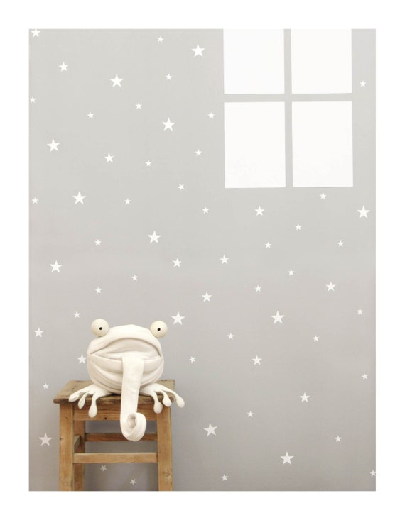 Charming White Star Wall Decals Wall Sticker Nursery Wall Decal