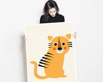 Tiger Nursery Print   Kids Room Poster