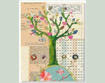 NURSERY ART PRINTS, Baby Girl Nursery Art, Vintage Nursery Print, Nursery Wall Decor, Mixed media Art, Pastel Nursery Print