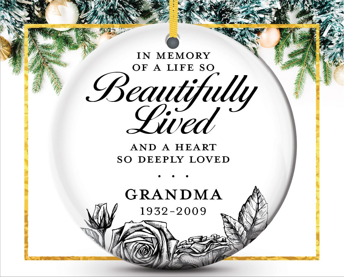 Remembrance Ornament In Memory Of Personalized Ornament