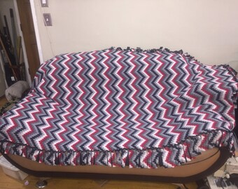 Chevron fleece blanket