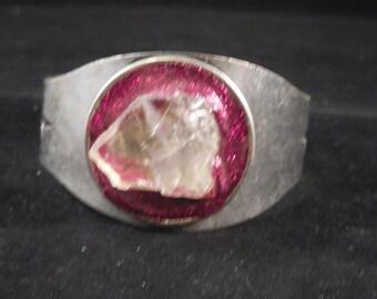 Quartz Crystal Bracelet with glitter #26