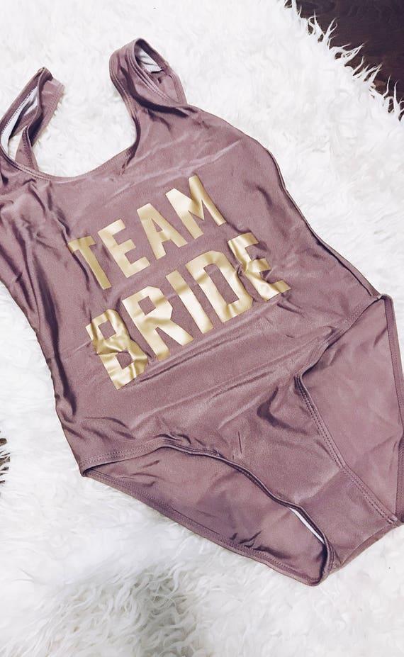 Team Bride Swimsuit   Team Bride Bridesmaid Swim