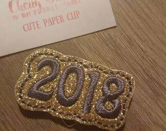 Gold and Graphite 2018 Flag Paper Clip