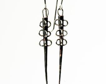 Zombie Apocalypse Industrial Steampunk Dangle Earrings by 2Roses