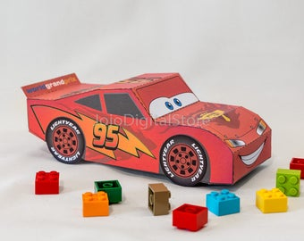 Sport Car Favor Box for racing party - Red