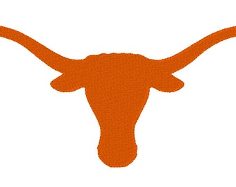 Texas Longhorn Embroidery Design LARGE HOOPS!