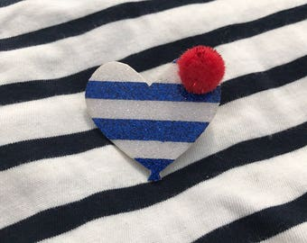 "Brooch heart balloon sailor ""oh sailor"""