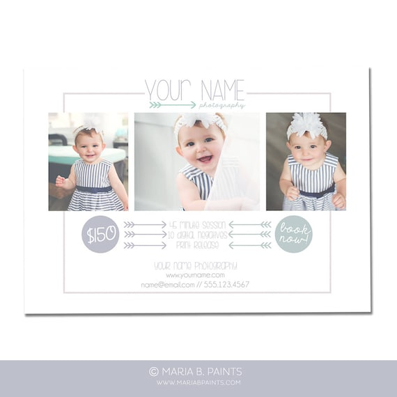 Instant Download Photography Postcard Mini Session Flyer